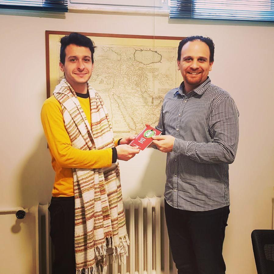 Alberto Senna uit Brazilië krijgt zijn Sufi Trail Paspoort