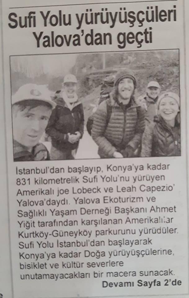 Krantenartikel uit Turkije over Leah Capezio & Joe Lobeck