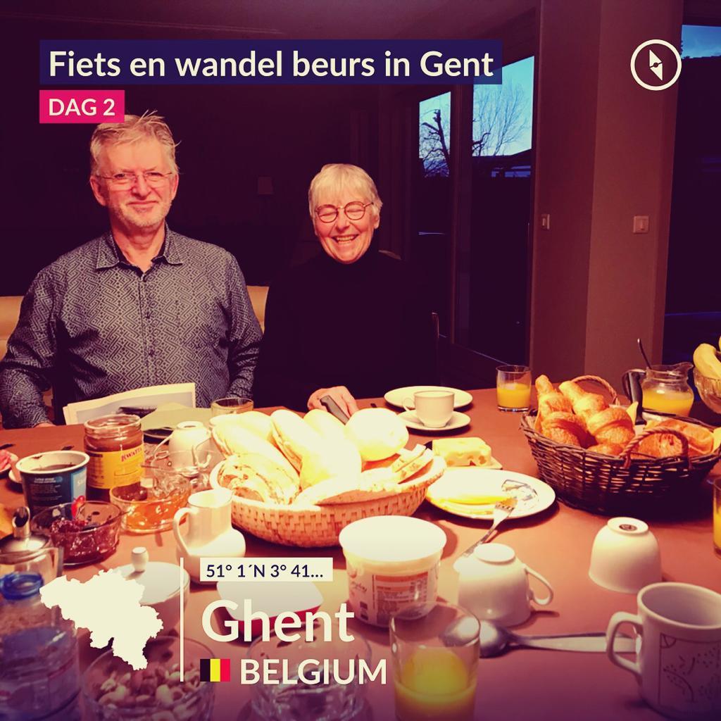 Ton & Annemarie op dag 2 van de Fiets en wandelbeurs in Gent