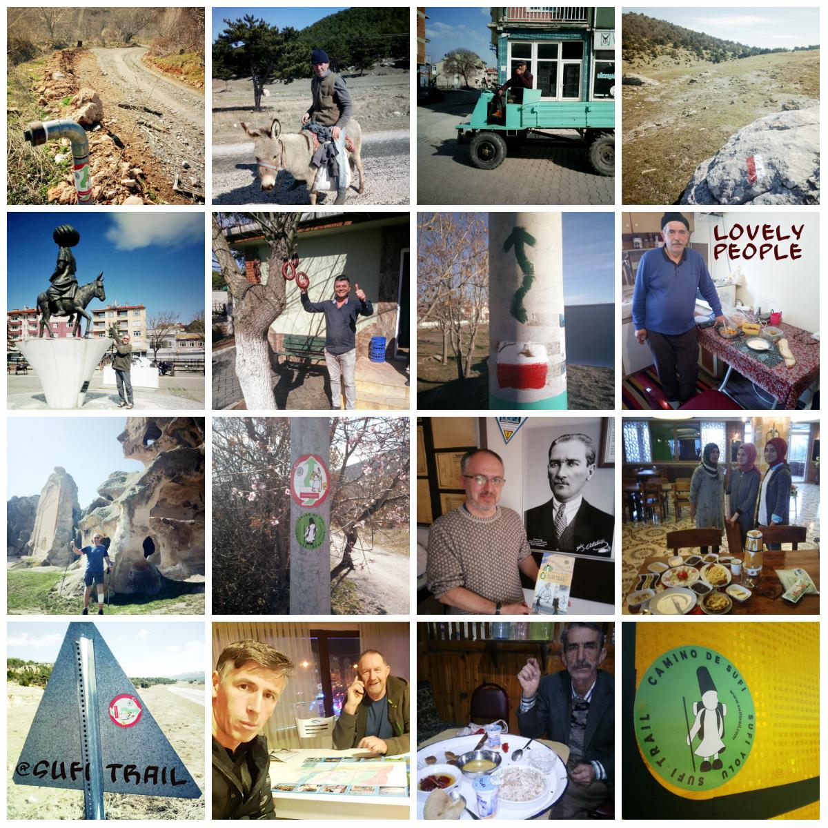 Een collage van Ludo VandeWoestyne tijdens zijn wandeling op de Sufi Trail